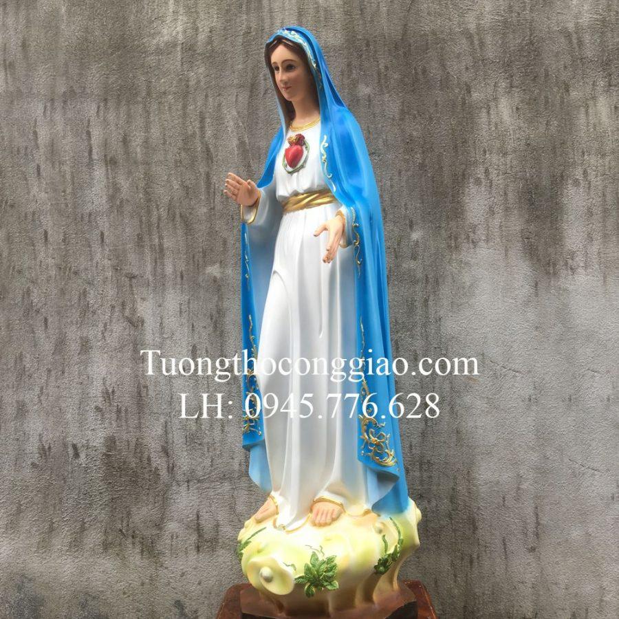 Tượng Đức Mẹ Fatima 80cm Xanh Composite