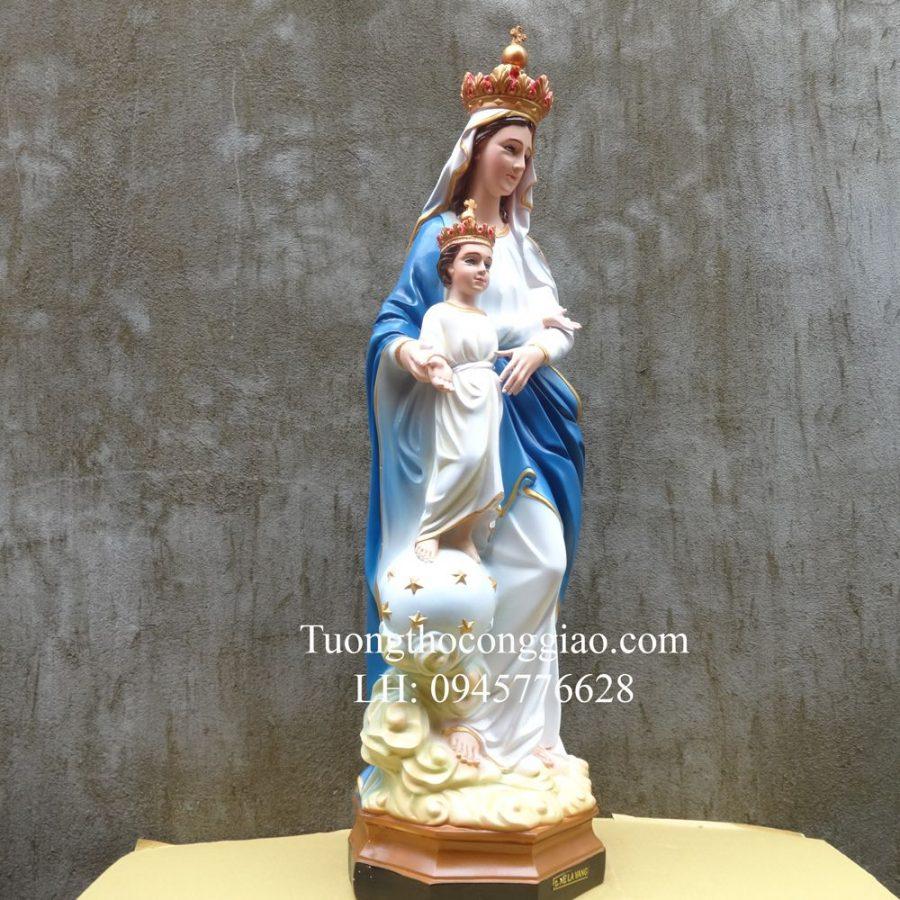 Tượng Đức Mẹ La Vang Cổ 80cm Composite