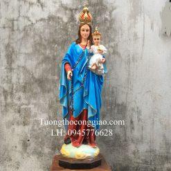 Tượng Đức Mẹ Mân Côi 90cm Composite