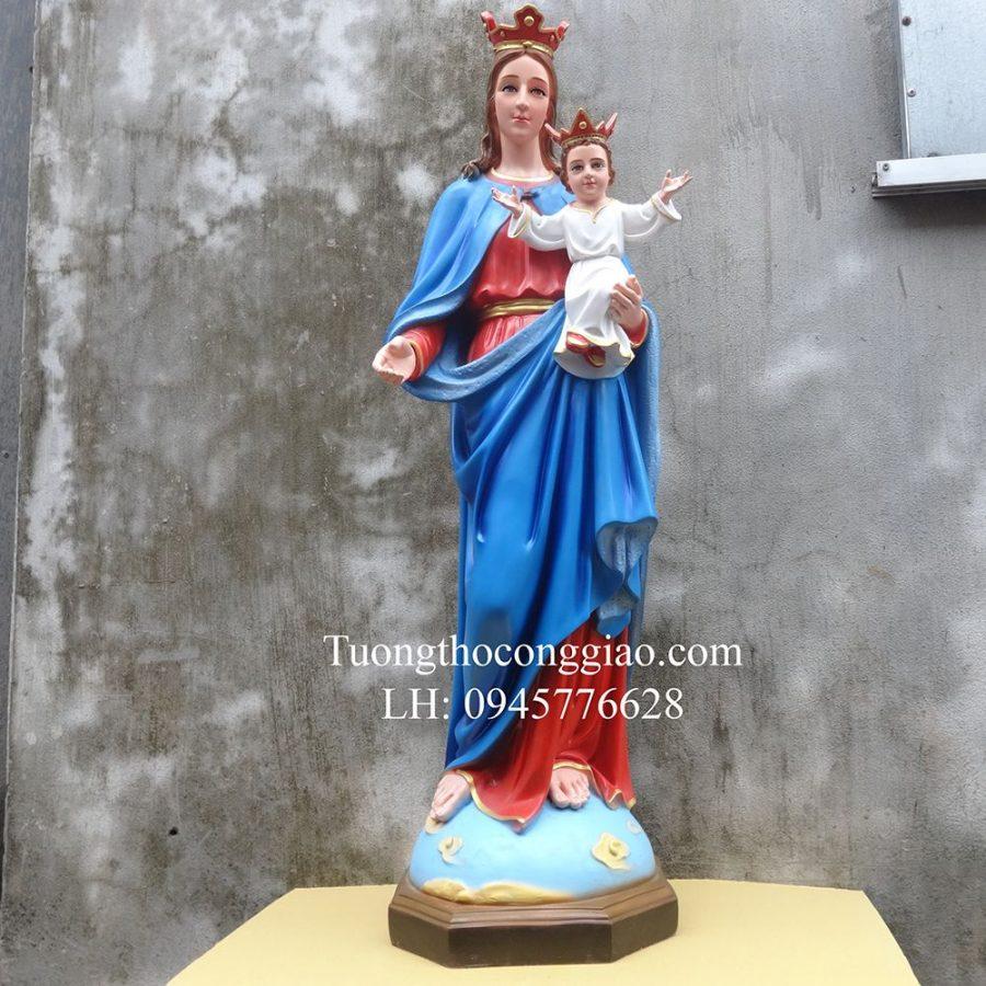 Tượng Đức Mẹ Phù Hộ 1m composite