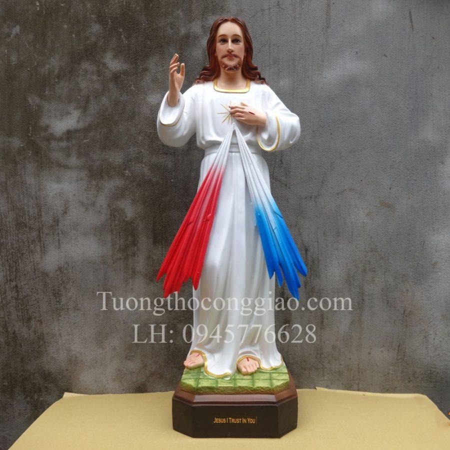 Tượng Lòng thương xót Chúa 70cm composite