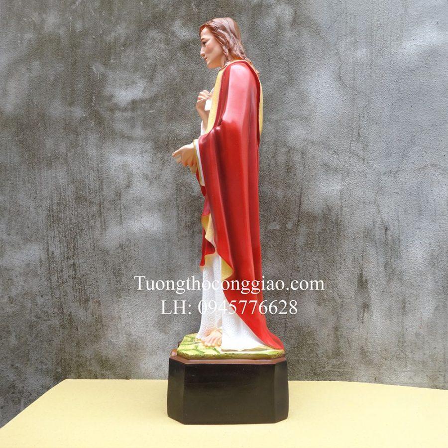 Tượng Thánh Gioan Tông Đồ (Gioan Thánh Sử) 60cm composite