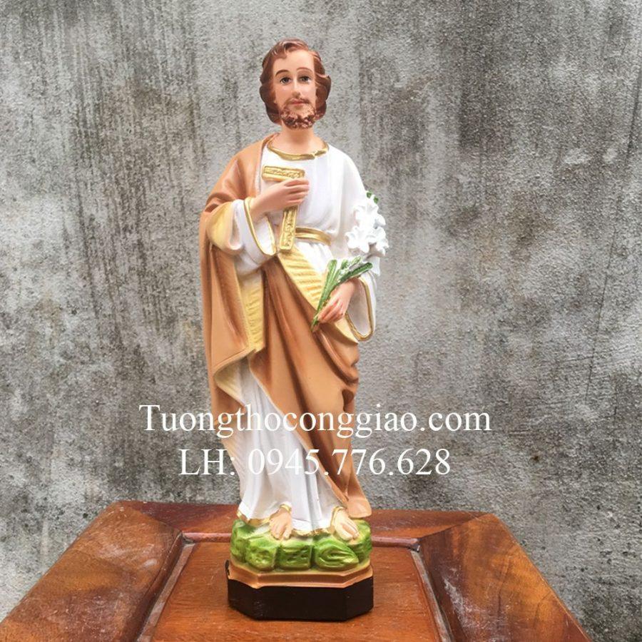 Tượng Thánh Giuse Công Nhân (Giuse Thợ) 30cm composite