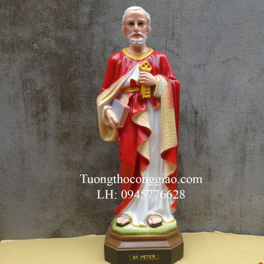 Tượng Thánh Phêrô 50cm composite