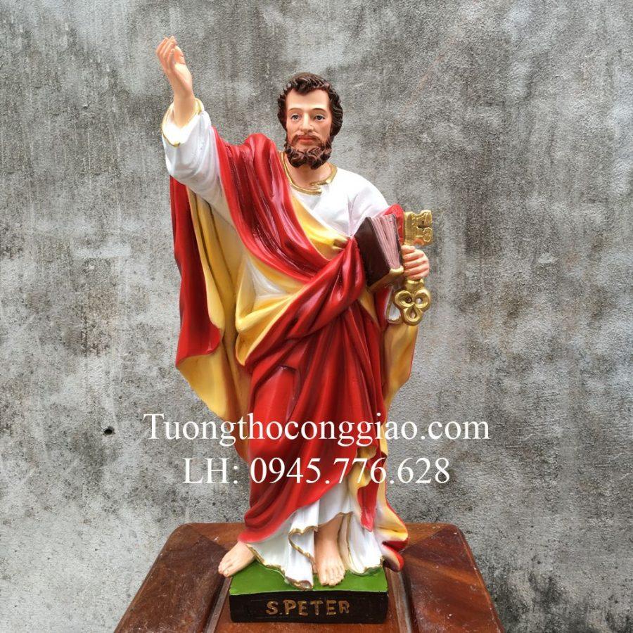 Tượng Thánh Phêrô 50cm mẫu Ý Composite