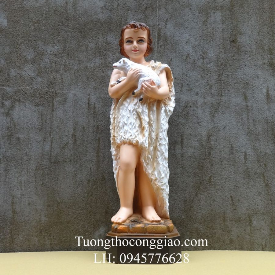 Tượng thánh Gioan Baotixita (thánh Gioan Tiền Hô) 50cm composite