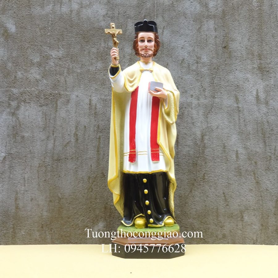 Tượng thánh Phanxico Xavie 50cm composite