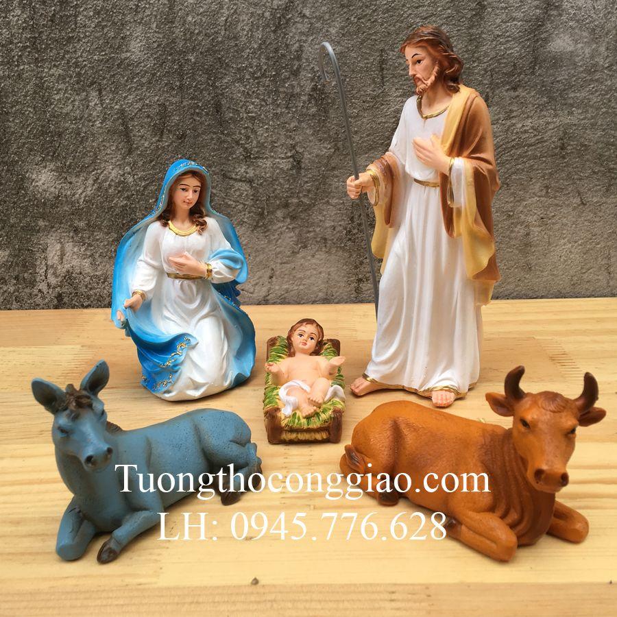 Bộ tượng Noel Giáng Sinh 17cm 5 tượng