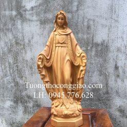 Tượng Đức Mẹ Ban Ơn 40cm giả gỗ