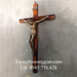 Tượng Chịu Nạn 30cm mạ xi đồng
