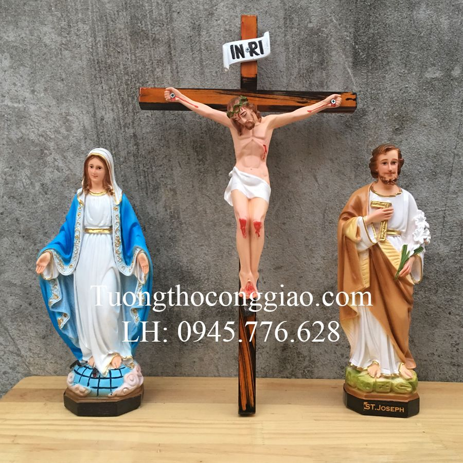 Bộ Tượng Bàn Thờ Thiên Chúa 30cm