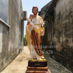 Tượng Thánh Giuse bế Chúa con 1m