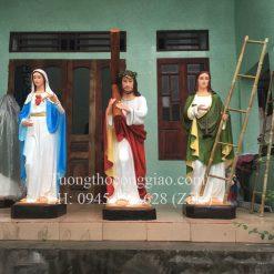 Bộ tượng kiệu Chúa vác thập giá mùa Thương 1m6 Composite