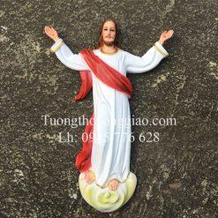 Tượng Chúa Phục Sinh phù điêu 50cm composite