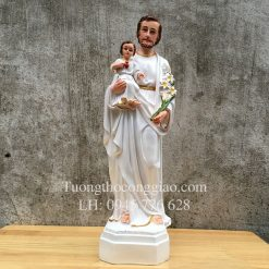Tượng Thánh Giuse bế Chúa Con 45cm 1