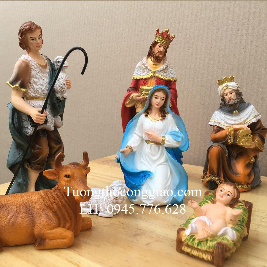 Bộ tượng Giáng Sinh mini