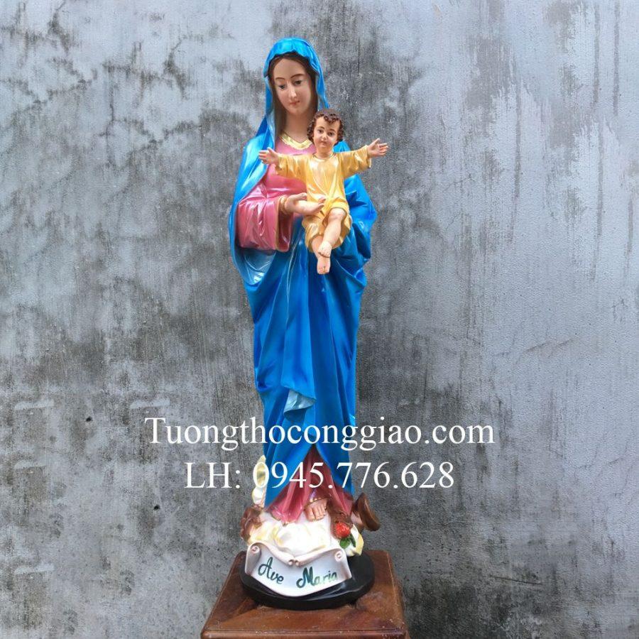 Tượng Đức Mẹ Sao Biển (Ave Maria) 100cm composite 1