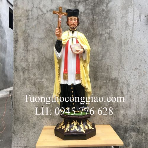 Tượng Thánh Phanxico Xavie 100cm composite 1