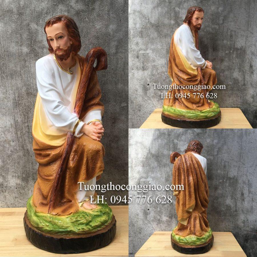Tượng Thánh Giuse (Bộ tượng CHúa Giáng Sinh 70cm 7 tượng)