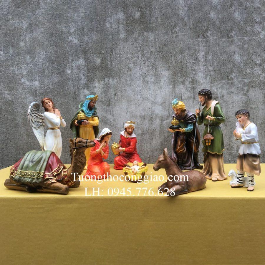 Bộ tượng Giáng Sinh Noel mẫu Ý 30cm 10 tượng 1