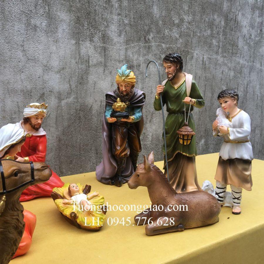 Bộ tượng Giáng Sinh Noel mẫu Ý 30cm 10 tượng 2