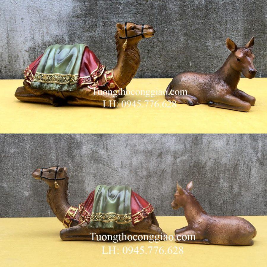 Lạc đà và lừa (Bộ tượng Giáng Sinh Noel mẫu Ý 30cm 10 tượng)